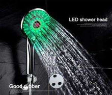 Load image into Gallery viewer, 3 Colors LED Hand Shower 5.1 inch Handheld Showerhead Shower Head with Temperature Display - QSR-Unlimited