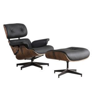 High grade vintage 8 layer black leather plywood ergonomic design office chair - QSR-Unlimited
