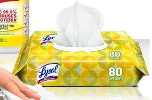 Lysol Disinfectant Wipes 80 Count/Bag - QSR-Unlimited