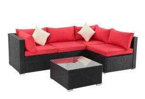 5 Piece Rattan Sectional Seating Group with Cushions by Forest - QSR-Unlimited