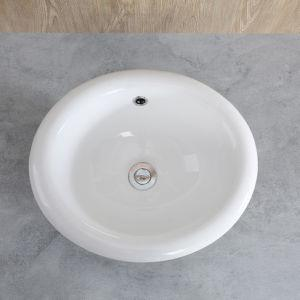 "CHANGIE 1004W Bathroom Top Mount Vanity Sink Porcelain Drop In Basin, White, 17X15"" - QSR-Unlimited"