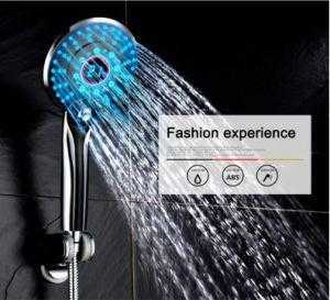 3 Colors LED Hand Shower 5.1 inch Handheld Showerhead Shower Head with Temperature Display - QSR-Unlimited