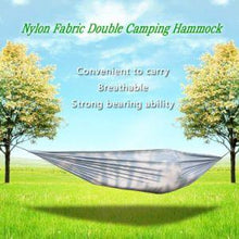 Load image into Gallery viewer, Portable and durable compact nylon fabric two-person travel camping hammock - QSR-Unlimited