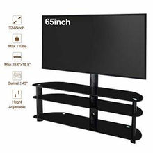 Load image into Gallery viewer, Universal TV Stand Tempered Glass TV Stand Mobile TV Stand - QSR-Unlimited