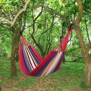 Outdoor Double Hammock Garden Camping Patio Beach Travel Swing Hang Carry Case - QSR-Unlimited