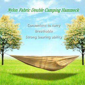 Portable and durable compact nylon fabric two-person travel camping hammock - QSR-Unlimited
