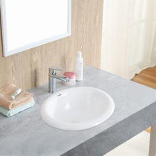 "Load image into Gallery viewer, CHANGIE 1004W Bathroom Top Mount Vanity Sink Porcelain Drop In Basin, White, 17X15"" - QSR-Unlimited"
