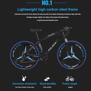 New Python shaped mountain bike 26 inch one wheel double disc brake - QSR-Unlimited
