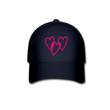 Load image into Gallery viewer, 3 Pink Hearts Baseball Cap - QSR-Unlimited
