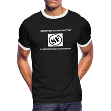 Load image into Gallery viewer, I Survived Sound Factory Men's Ringer T-Shirt - QSR-Unlimited