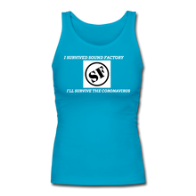 Load image into Gallery viewer, I Survived Sound Factory Women's Longer Length Fitted Tank - QSR-Unlimited