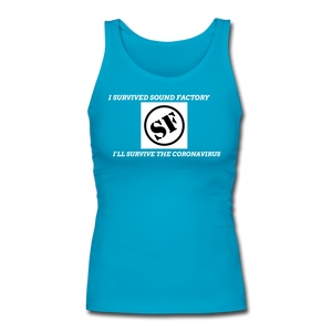 I Survived Sound Factory Women's Longer Length Fitted Tank - QSR-Unlimited