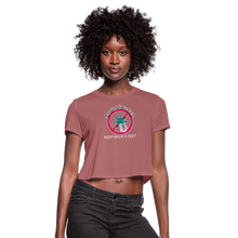 Load image into Gallery viewer, Stop Keep Back 6' Women's Cropped T-Shirt - QSR-Unlimited