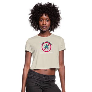Stop Keep Back 6' Women's Cropped T-Shirt - QSR-Unlimited