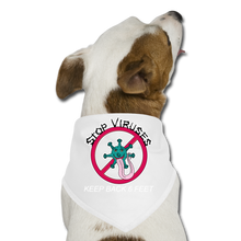 Load image into Gallery viewer, Stop Keep Back 6' Dog Bandana - QSR-Unlimited
