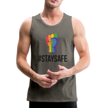 Load image into Gallery viewer, #StaySafe Men's Premium Tank - QSR-Unlimited