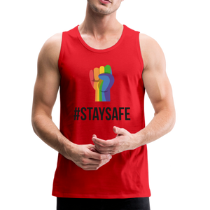 #StaySafe Men's Premium Tank - QSR-Unlimited