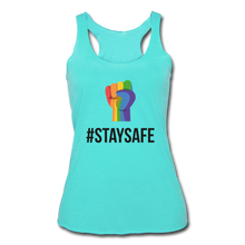 Load image into Gallery viewer, #StaySafe Women's Tri-Blend Racerback Tank - QSR-Unlimited