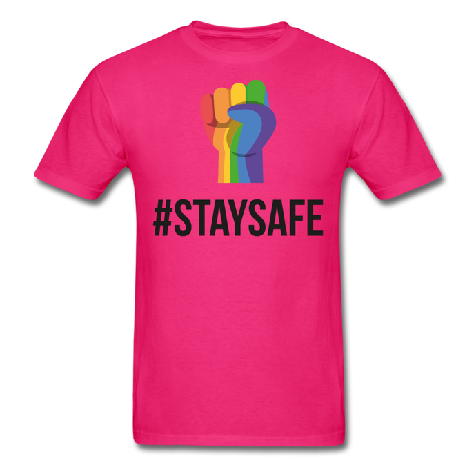 #StaySafe Men's T-Shirt - QSR-Unlimited