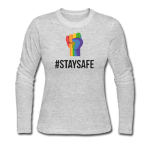 Load image into Gallery viewer, #StaySafe Women's Long Sleeve Jersey T-Shirt - QSR-Unlimited