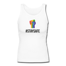 Load image into Gallery viewer, #StaySafe Women's Longer Length Fitted Tank - QSR-Unlimited