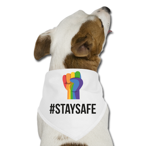 #StaySafe Dog Bandana - QSR-Unlimited