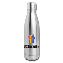 Load image into Gallery viewer, #StaySafe Insulated Stainless Steel Water Bottle - QSR-Unlimited