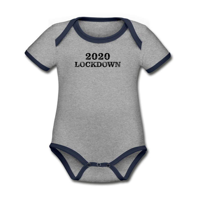 2020 Lockdown Organic Contrast Short Sleeve Baby Bodysuit - QSR-Unlimited