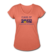 Load image into Gallery viewer, Class of 2021 Women's Tri-Blend V-Neck T-Shirt - QSR-Unlimited