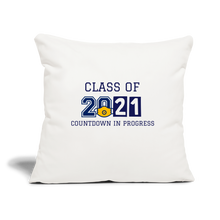"Load image into Gallery viewer, Class of 2021 Throw Pillow Cover 18"" x 18"" - QSR-Unlimited"
