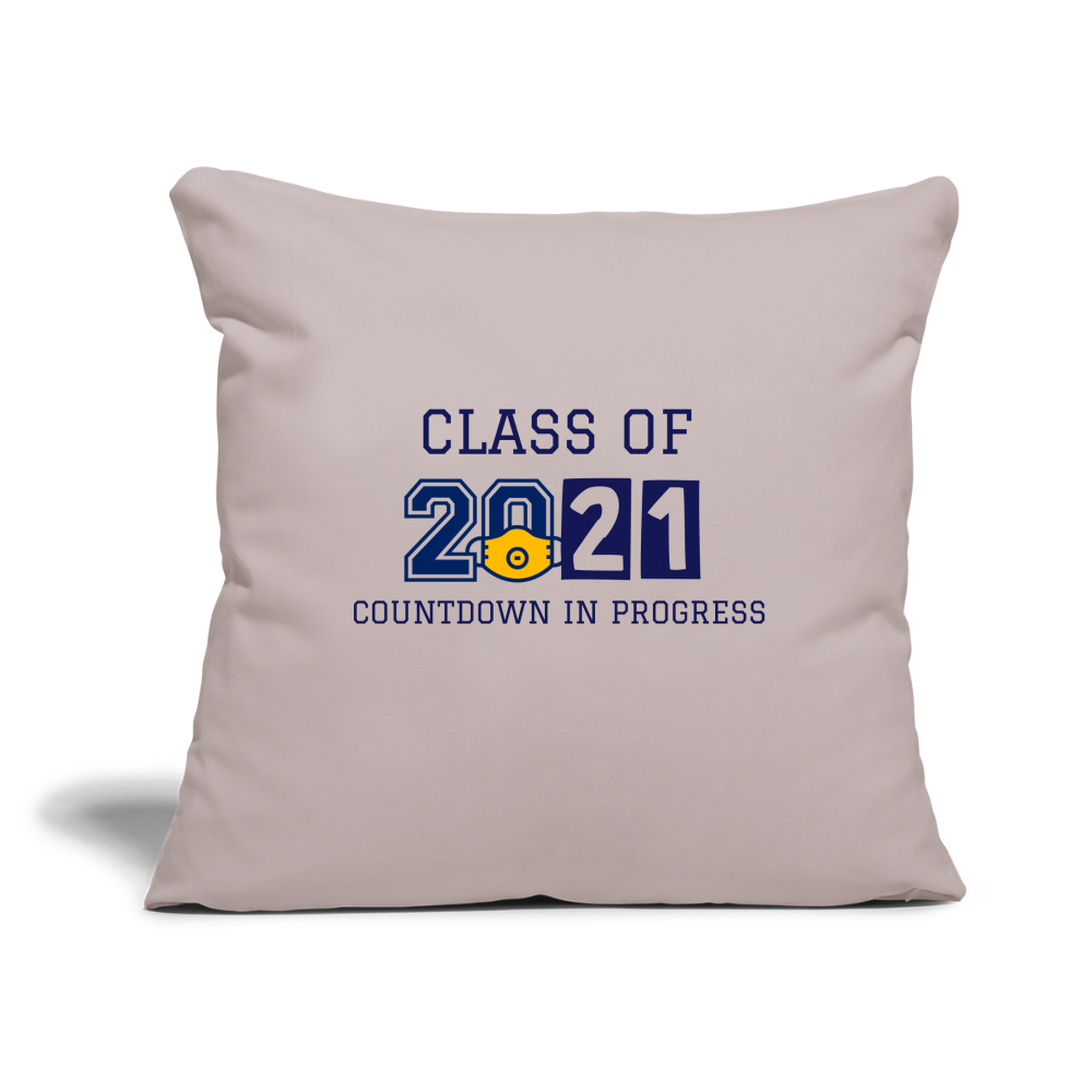 "Class of 2021 Throw Pillow Cover 18"" x 18"" - QSR-Unlimited"