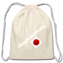 Load image into Gallery viewer, Stop Hate 4 Profit Cotton Drawstring Bag - QSR-Unlimited