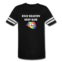Load image into Gallery viewer, Stay Healthy Keep Safe Vintage Sport T-Shirt - QSR-Unlimited