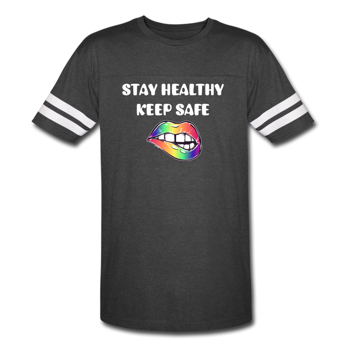 Stay Healthy Keep Safe Vintage Sport T-Shirt - QSR-Unlimited