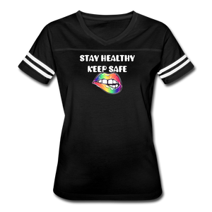 Stay Healthy Keep Safe Women's Vintage Sport T-Shirt - QSR-Unlimited