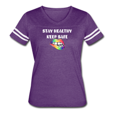 Load image into Gallery viewer, Stay Healthy Keep Safe Women's Vintage Sport T-Shirt - QSR-Unlimited