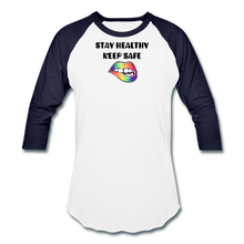 Load image into Gallery viewer, Stay Healthy Keep Safe Baseball T-Shirt - QSR-Unlimited