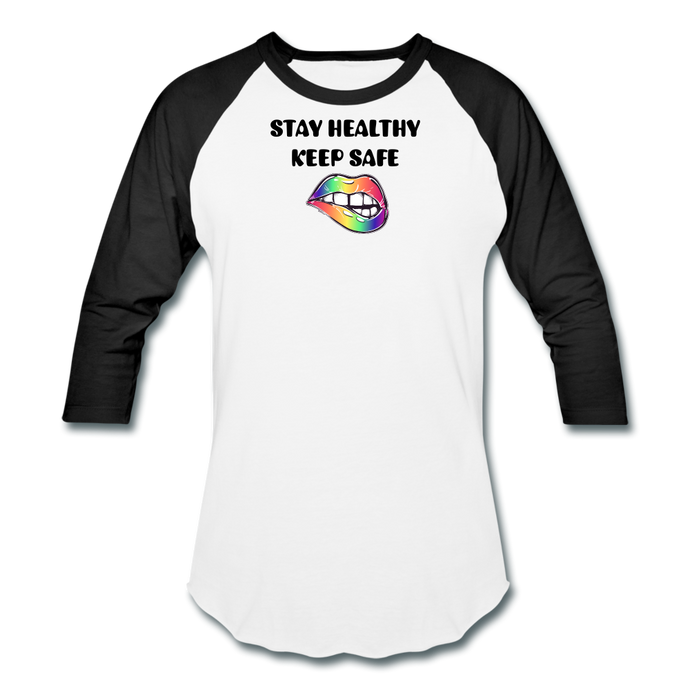 Stay Healthy Keep Safe Baseball T-Shirt - QSR-Unlimited