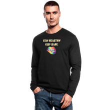 Load image into Gallery viewer, Stay Healthy Keep Safe Men's Long Sleeve T-Shirt by Next Level - QSR-Unlimited