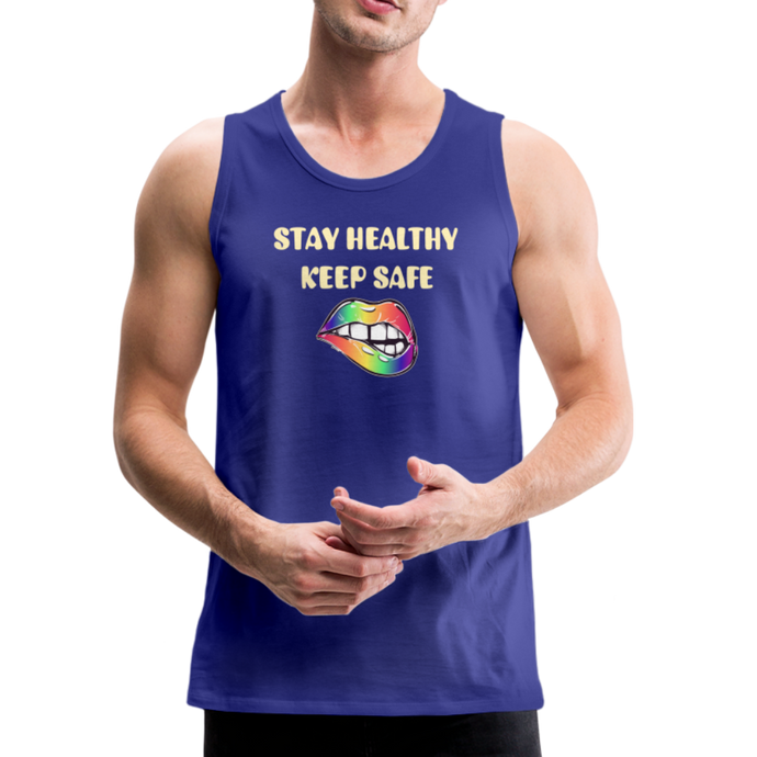 Stay Healthy Keep Safe Men's Premium Tank - QSR-Unlimited