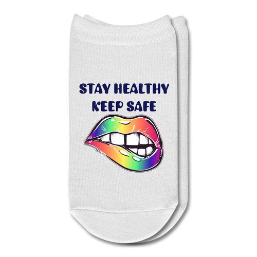 Stay Healthy Keep Safe Ankle Socks - QSR-Unlimited