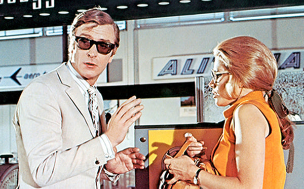 Michael Caine as Charlie Croker in The Italian Job wearing Curry & Paxton Yvan Sunglasses
