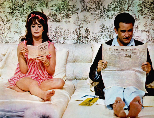 Natalie Wood and Ian Bannen / Mason Sons Derek Rose Sleepwear Pyjamas