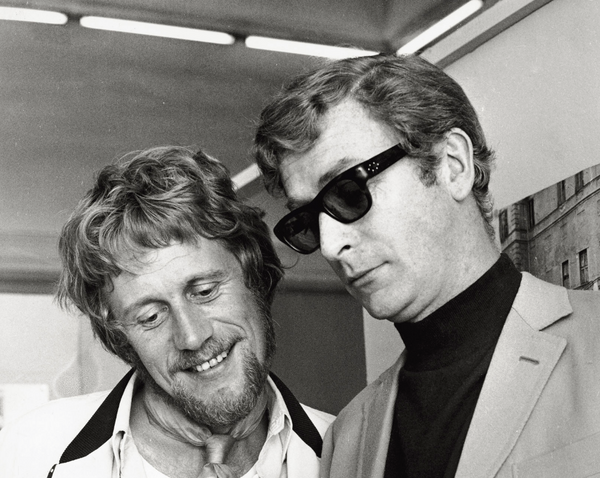 Michael Caine wearing Yvan Sunglasses by Curry & Paxton With Peter Collinson