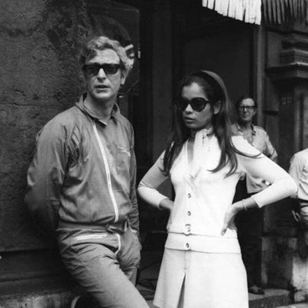 Michael Caine in Curry & Paxton with Bianca Jagger