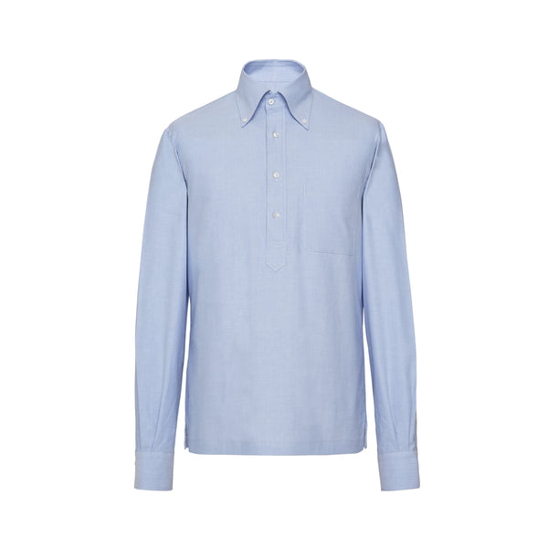 Mason Sons Selects Motoluxe Popover Shirt Light Blue Summer Style