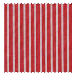 Red Butcher-Stripe Poplin (2 Fold 120's)
