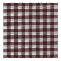 Brown Gingham Poplin (2 Fold 100's)