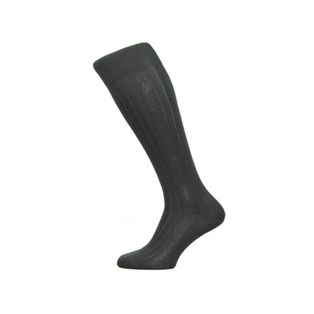 Black Asberley Silk Long Socks