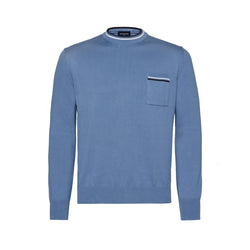 Sky-Blue Mock Turtleneck Sweater